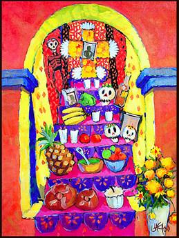 31 de octubre celebrando el d a de muertos for Decoracion de puertas de dia de muertos