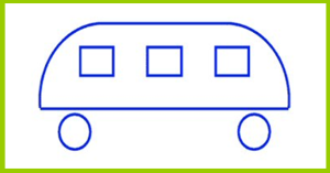 ¿hacia dónde se desplaza el autobús?