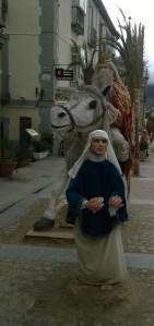 en caballo